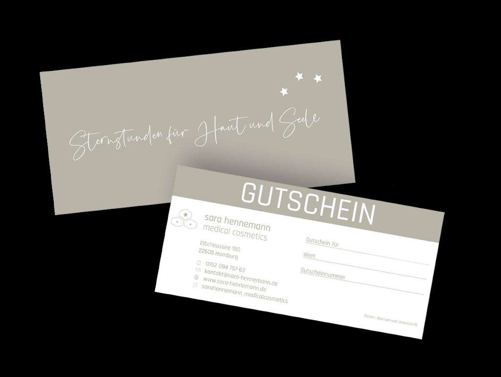 Gutschein für medizinische Kosmetik - Sara Hennemann